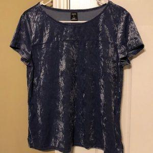 Short Sleeve Velvet Shirt